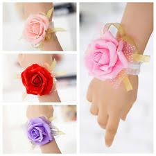 bridesmaid corsage bridesmaid wrist corsage flowers petals garlands ebay