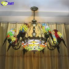 Dragonfly Light Fixture Fumat Parrots Dragonfly Chandelier European Style Artistic