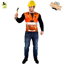 construction worker costume 3d digital printing t shirt construction worker costume