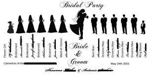 wedding party silhouette ideas book or fan weddings do it