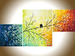 Birds Home Decor Wall Ideas Colorful Wall Art Colorful Wall Art Canvas Colorful