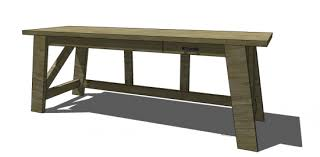 Desk Diy Plans Free Diy Furniture Plans To Build A Pottery Barn Inspired