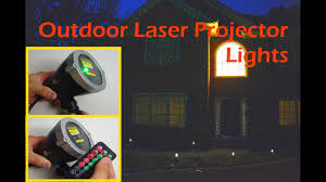 Christmas Lights Laser Projector by Outdoor Laser Projector Light Christmas Light 1byone Youtube