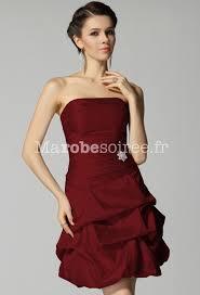 boutique mariage bordeaux robe de cocktail courte bustier ballon taffetas laçage dans le dos