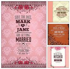 Marriage Invitation Card Templates Free Download Pink Wedding Invitation Cards Set Vector Cgispread Free