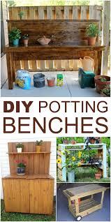 Garden Potting Bench Ideas 10 Diy Potting Bench Ideas To Make Gardening Work Easier