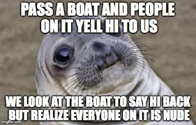Boat People Meme - me and a friend where kayaking on the lake when this happened imgflip
