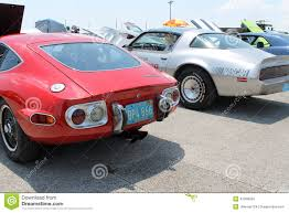 classic toyota cars classic japanese and american sports cars rear editorial stock