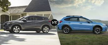 gray subaru crosstrek 2016 honda hr v vs 2016 subaru crosstrek