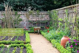 gap gardens walled kitchen garden with forcing pots late april