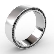simple mens wedding bands wedding rings simple mens wedding ring with black diamonds image