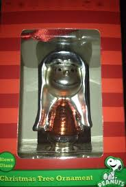 linus blown glass ornament peanuts hallmark collectible christmas