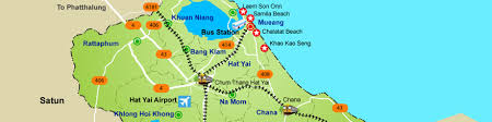 map of hat yai map of songkhla