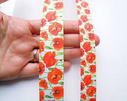 grosgrain ribbon by the yard poppy ribbon etsy