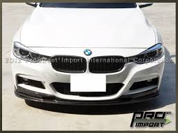 bmw f30 front spoiler 3d style carbon fiber front bumper add on lip for bmw f30 3 series