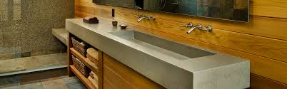 long bathroom sink with two faucets concrete sinks concreteworks east