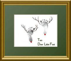 newborn baby footprints christmas craft card christmas