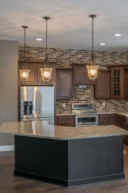 modern backsplash tile rustic brick glass kitchen ideas