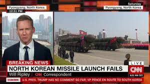 north korean missile test fails us and south korea say cnn