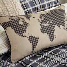 Map Bedding Mens Duvet Covers Check Bedding In Charcoal At Bedeck 1951