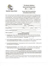 Applying For A Scholarship Essay Sample College Scholarship Application Template Virtren Com
