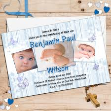 10 personalised boys christening baptism invitations photo invites