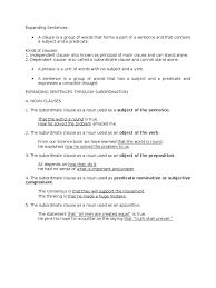 expanding sentences clause adverb