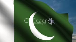 Pakistans Flag Pakistan Flag Waving In Wind With Clouds In Background Hd