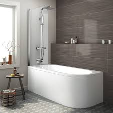 corner bath shower screen corner bathtub and shower ideal