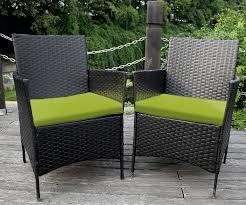 amazon com merax 4 piece outdoor pe rattan wicker sofa and chairs