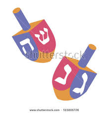 hanukkah dreidels festival lights feast dedication dreidel hanukkah stock vector