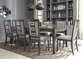 fulbright gray rub through extendable dining room set from