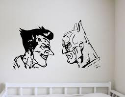 batman joker wall art stickers decals vinyl decor room home download