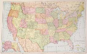 map of the us states in 1865 prints united states of america antique maps prints