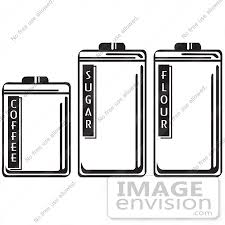 royalty free cartoon clip art of three storage canisters in a
