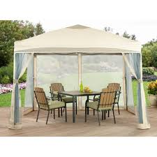 Patio Lawn And Garden Palm Springs 10ft X 10ft Deluxe Patio Canopy With Mosquito Mesh