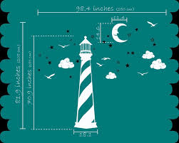 online shop poomoo wandtattoos vinyl wandtattoo leuchtturm mond