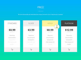 price plan design inspiration for designing a pricing table