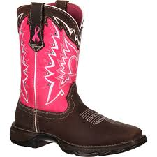 womens cowboy boots uk durango s pink ribbon cancer benefit boots