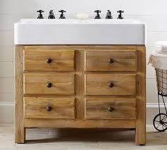 top mason reclaimed wood double sink console wax pine finish