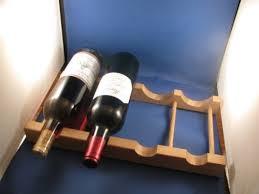 refrigerator shelf wine bottle oak rack holds 4 wine bottles