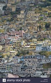 houses built on slopes houses built on the slopes of a hill of quito city capital of