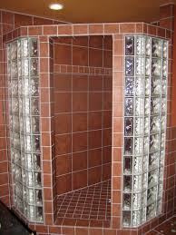 Mexican Tile Bathroom Designs Glass Block Walls In Bathrooms Shower And Tile Floor With