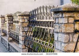 fence wrought iron fence forging stock photo 363237098