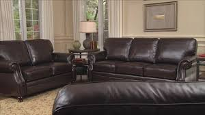 austin top grain leather sectional with ottoman beckett 4 piece top grain leather set video gallery