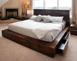 contemporary wooden bed frame smartwedding co
