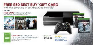 best buy game deals black friday want an xbox one best buy giving free game 50 gift card with