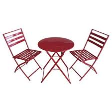 Tesco Bistro Chairs Buy Milan Folding Metal Bistro Set From Our All Garden