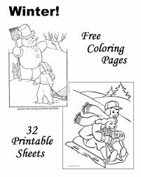 Winter Coloring Sheets And Pictures Winter Coloring Pages Free Printable