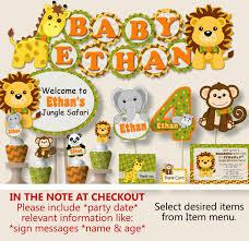 safari baby shower jungle baby shower decorations